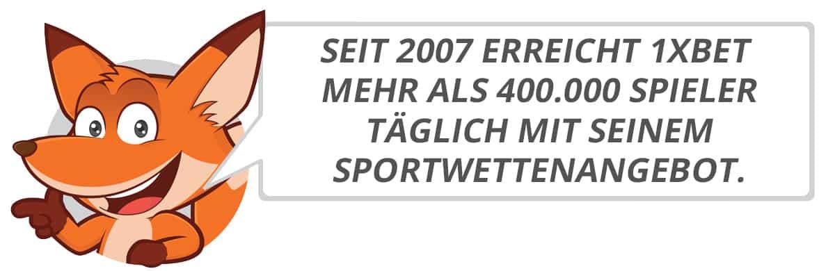 1xbet Testbericht vom Sportwettenfuchs