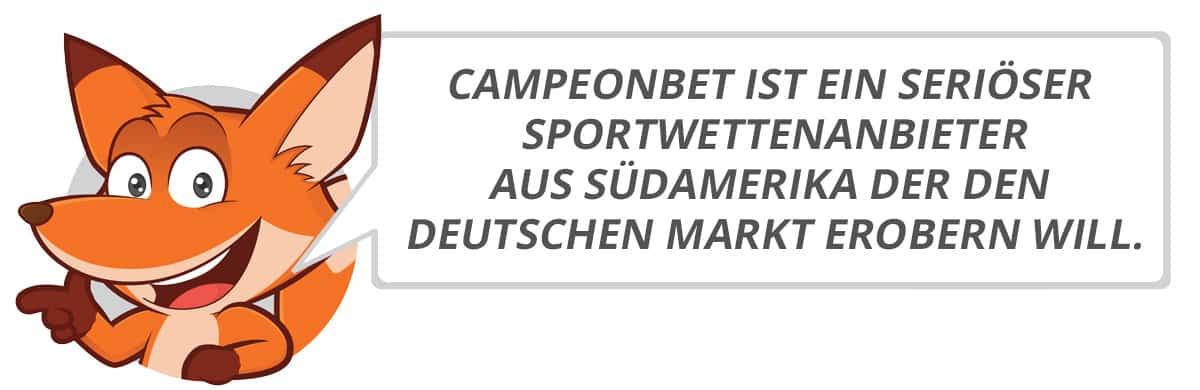 Campeonbet Testbericht vom Sportwettenfuchs