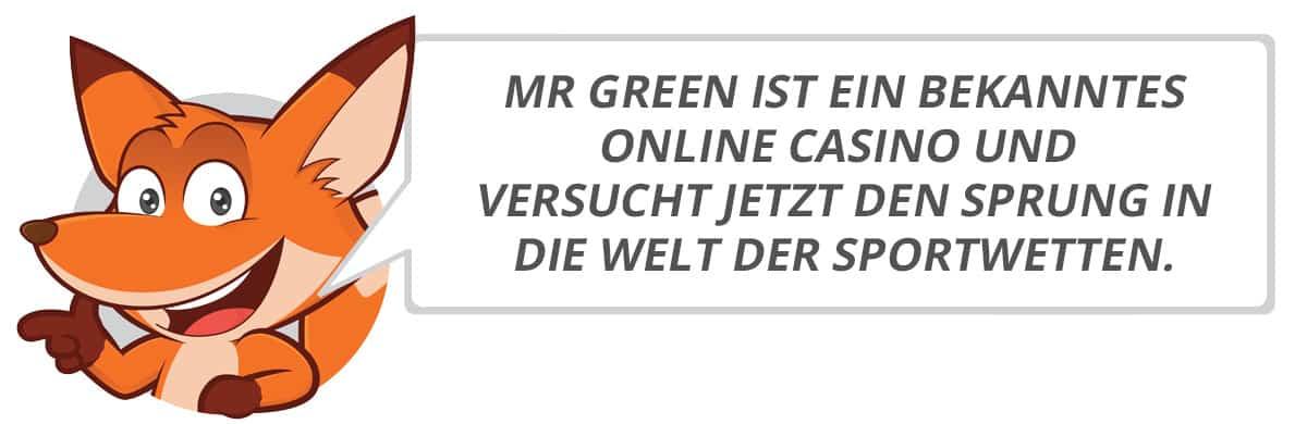 Mr Green Testbericht vom Sportwettenfuchs