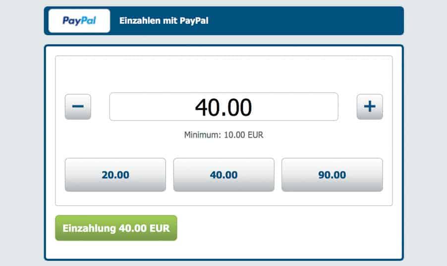 Paypal Einzahlung