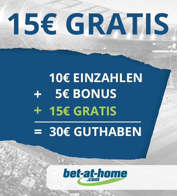 15 Euro ohne Einzahlung von bet-at-home