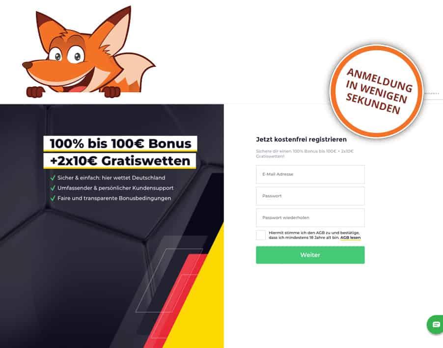 wetten.com Anmeldung