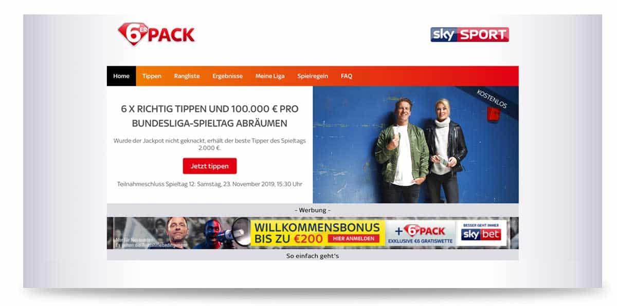Startseite von Sky 6er Pack