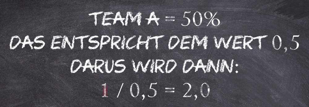 Berechnung faire Wettquoten