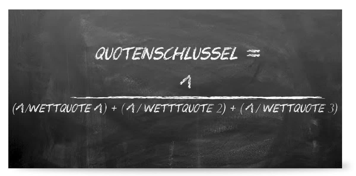 Quotenschlüssel berechnen