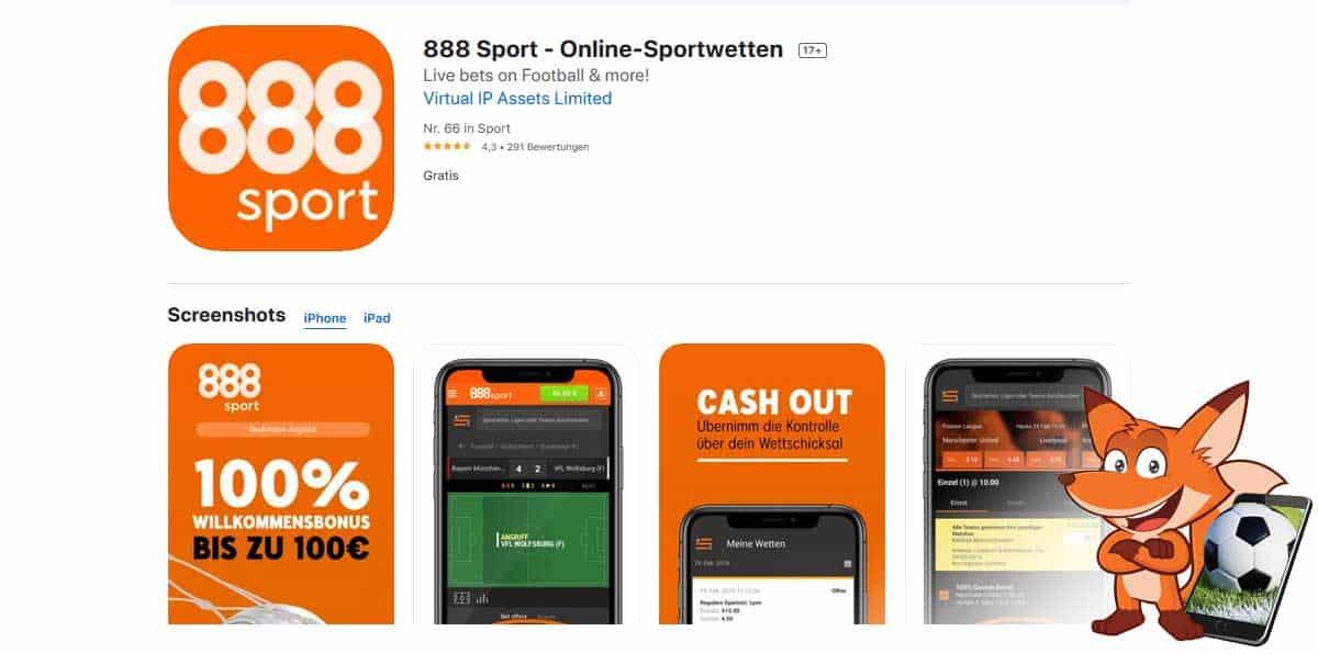 888 Sportwetten App