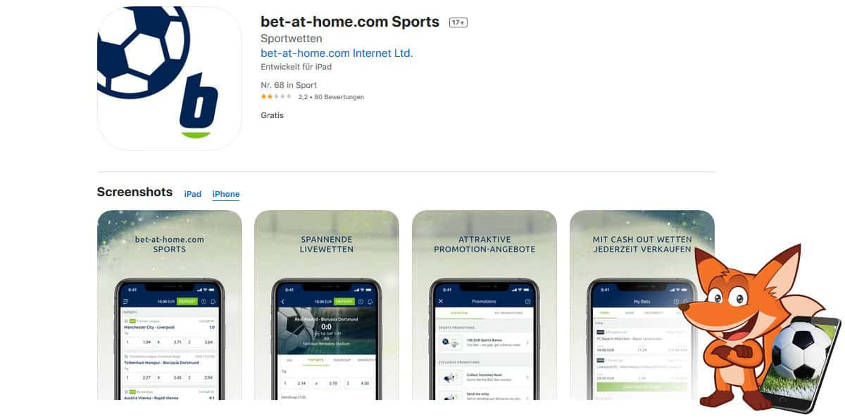 bet at home Sportwetten App
