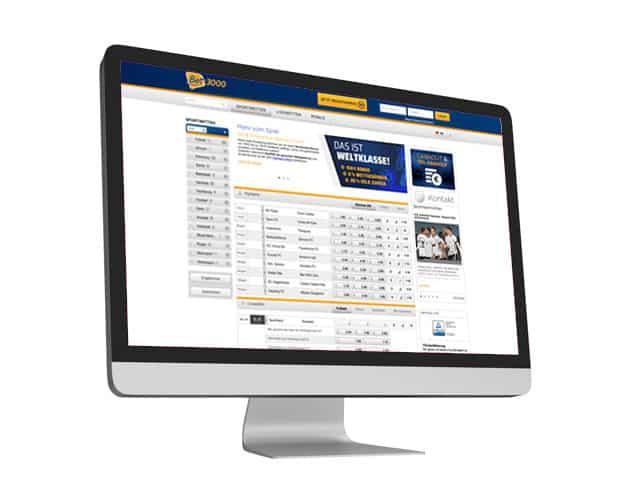 bet3000 Website Desktop