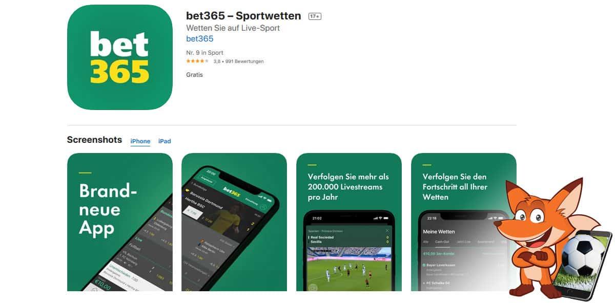 bet365 Sportwetten App