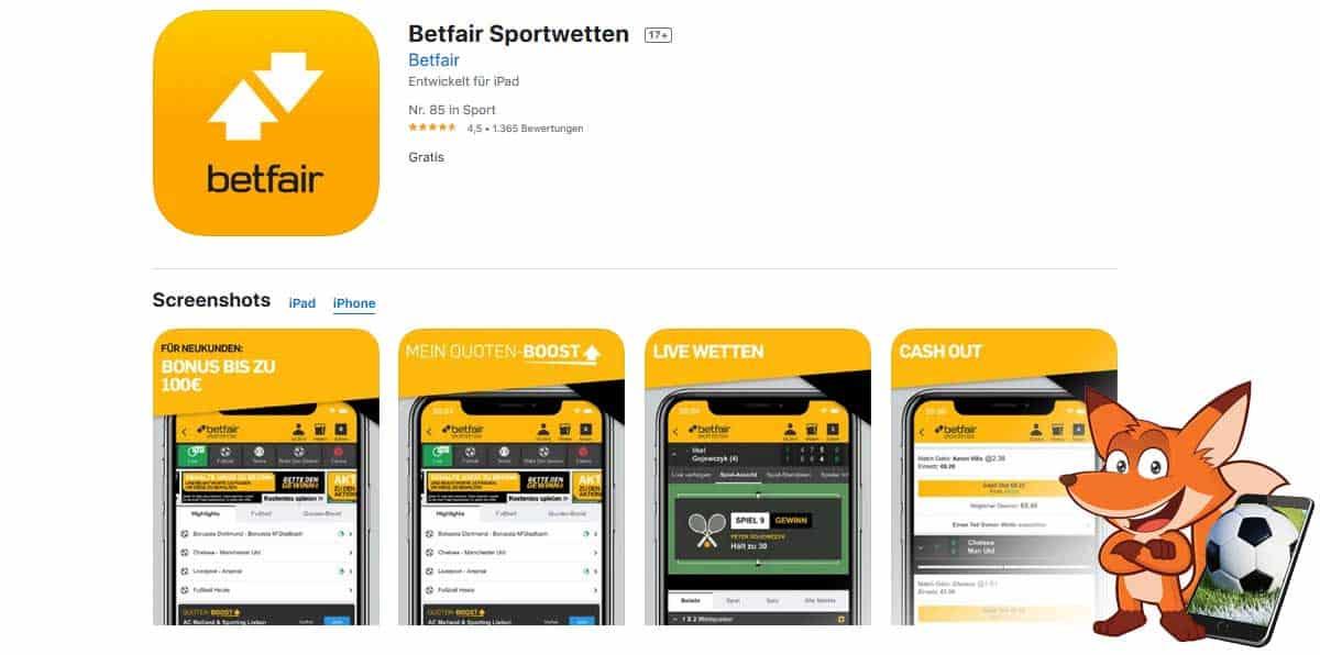 Sportwetten App Betfair