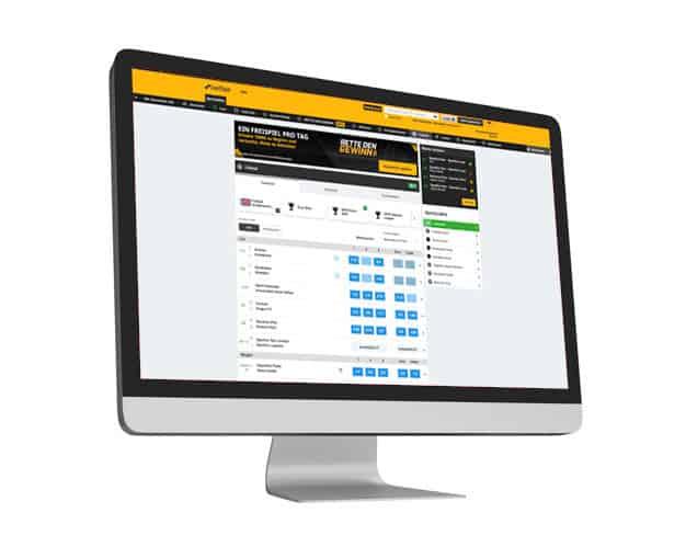 betfair Website Desktop