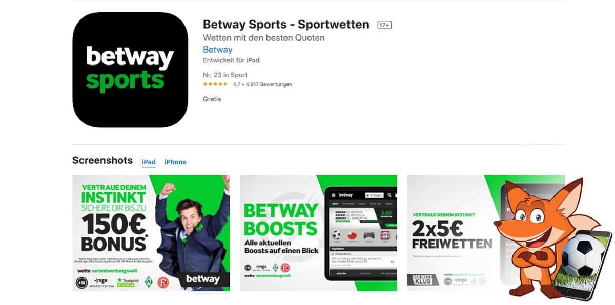 betway Sportwetten App