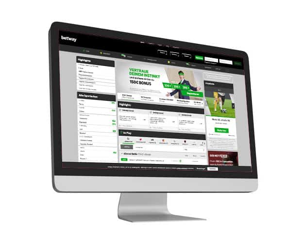 Betway Website Desktop