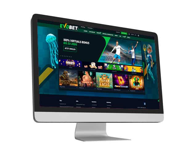Evobet Website Desktop