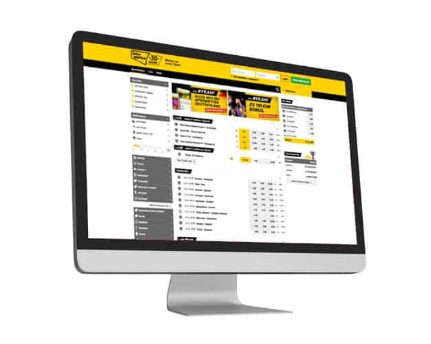 Interwetten Website Desktop