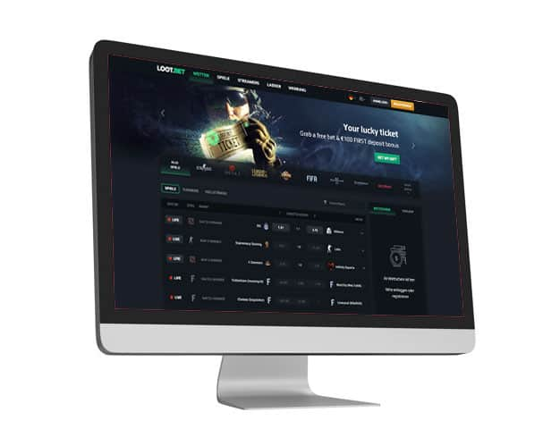 lootbet Website Desktop