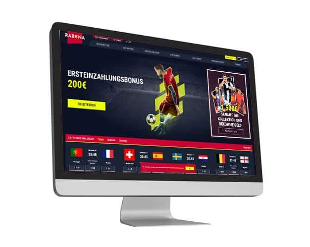 Rabona Website Desktop