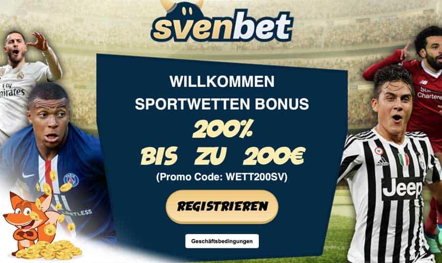 Svenbet Sportwetten Bonus