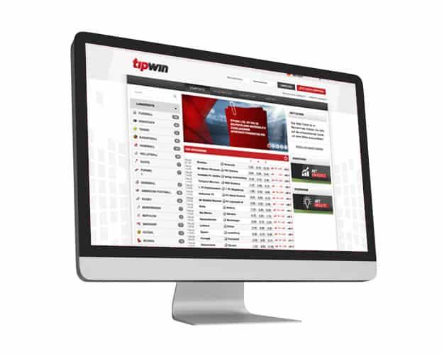 Tipwin Website Desktop
