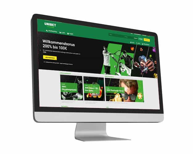 Unibet Website Desktop