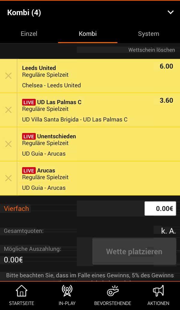 888sport Wettschein