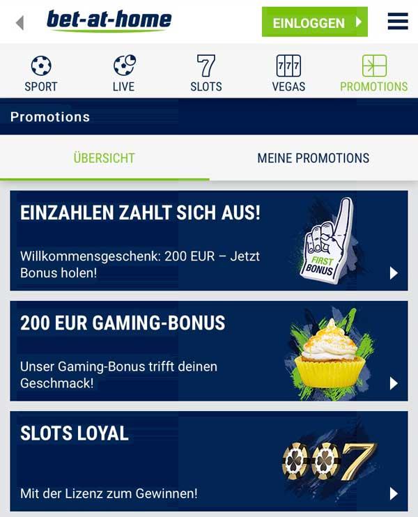 bet-at-home App Bonus