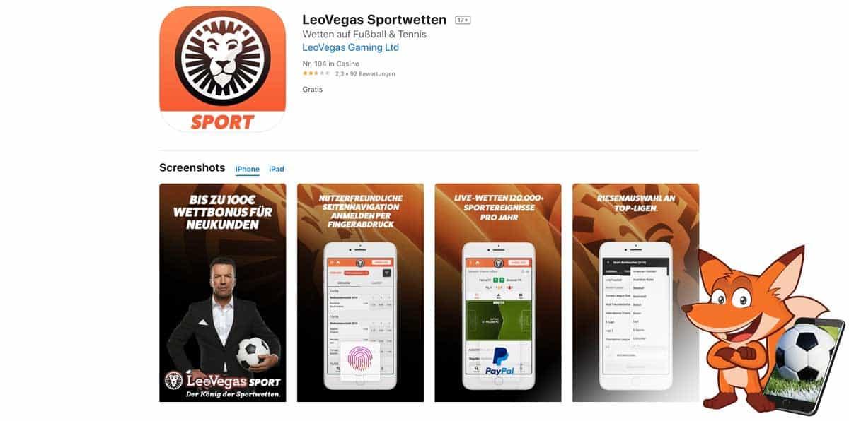 LeoVegas Sportwetten App