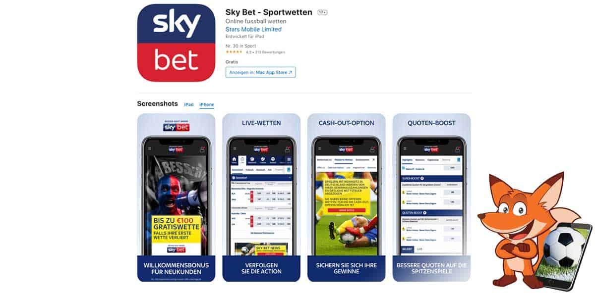 Skybet Sportwetten App