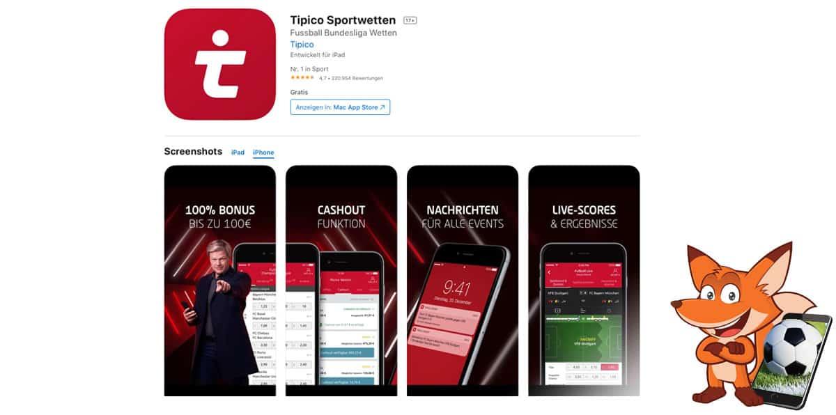 Tipico Sportwetten App