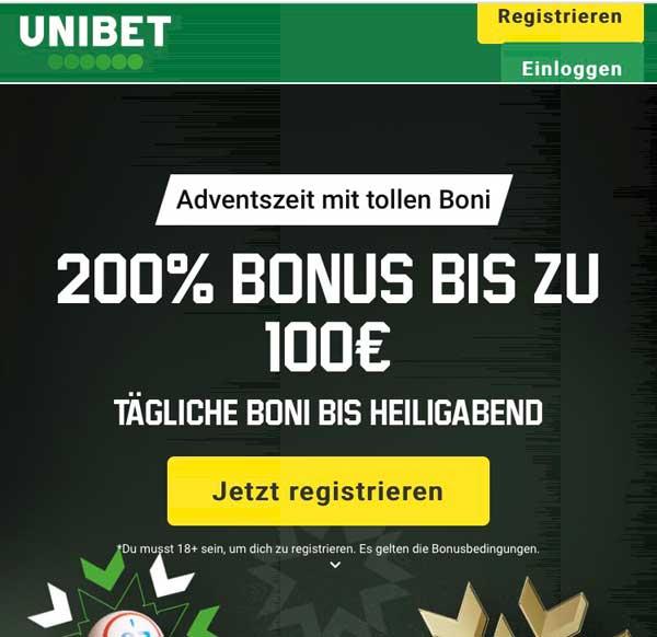 Unibet App Bonus