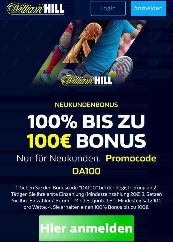 William Hill App Bonus
