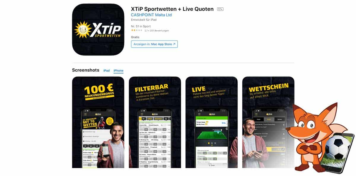 xTip Sportwetten App
